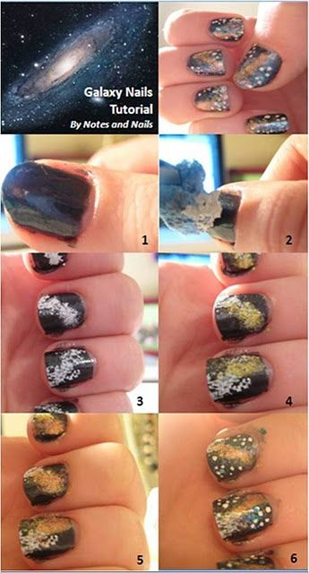The 25 best galaxy nails tutorial ideas on pinterest diy nails galaxy nail art design diy prinsesfo Gallery