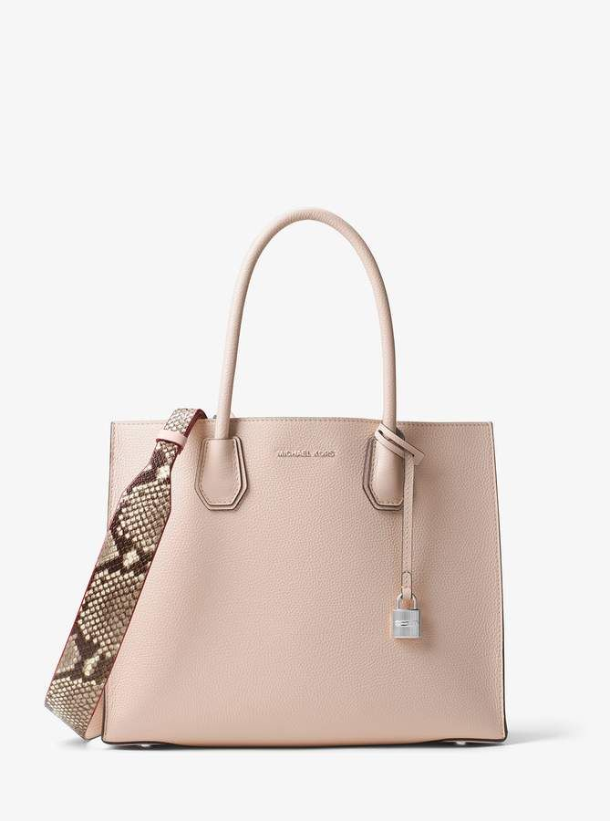 585a14d0440611 Michael Michael Kors Snake-Embossed-Leather Shoulder Strap#shopstyle# michaelkors#rose
