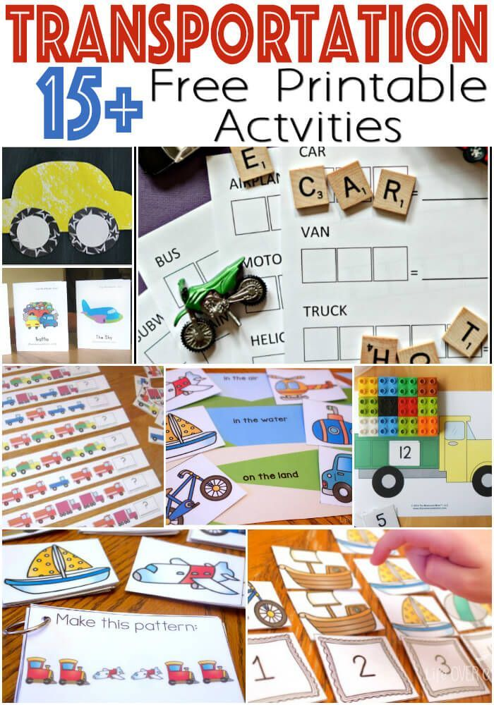 transportation preschool transportation theme free printables for learning 294