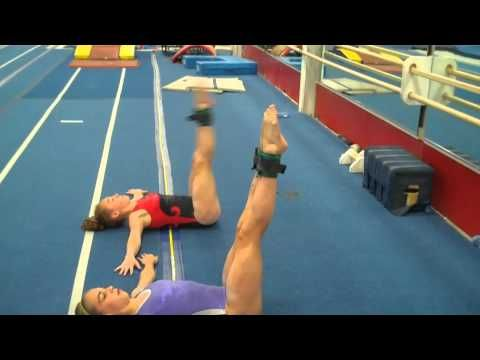 Gymnastics core conditioning with Mary Lee Tracey -- www.swingbig.org