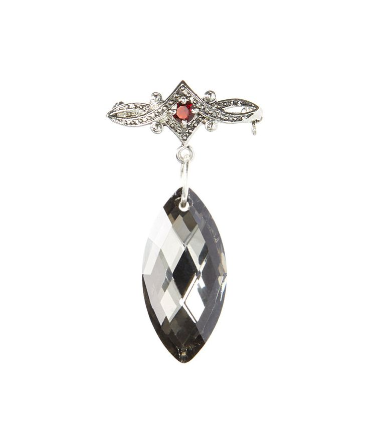 Take a look at this Pavcus Designs Red Cubic Zirconia Oval Dangle Brooch today!