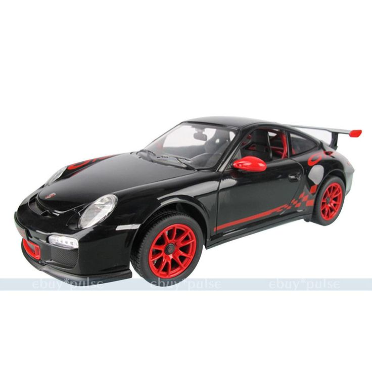 on porsche 911 silver and black toy car remote