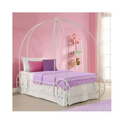 Princess-Carriage-Bed-Youth-Twin-Sleep-Set-Preteen-Bedroom-Furniture-Frozen-Home