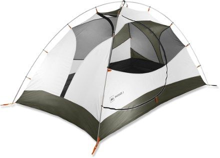 Bulkier and heavier, but still a good tent that can be for car camping or backpacking. And, a bit more affordable...  REI Passage 2 Tent - $114 - 5 lbs. 5 oz.