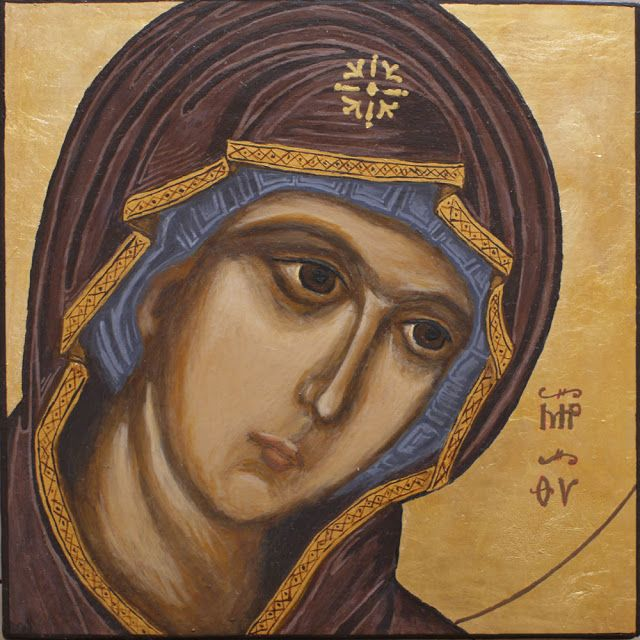The Mother of God - byzantine icon, egg tempera on board