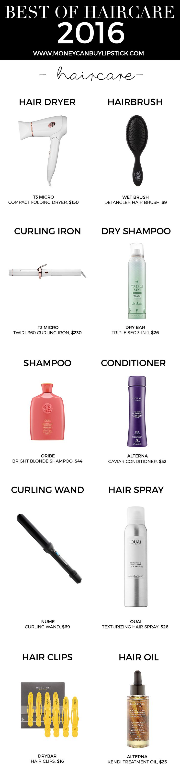 Best Haircare Products 2016 | Best Beauty Products 2016 | Haircare Products | Best Hair Dryer | Best Dry Shampoo | Best Detangler Brush | Blogger Haircare