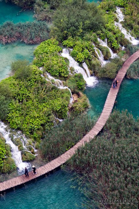 Plitvice Lakes National Park, Croatia ♦ The Plitvice Lakes are located in Plitvice Lakes National Park in Croatia. There, emerald forests surround azure waters fed by mountain rivers and streams that cascade over unique mineral deposits that cause the landscape to constantly move and shift.: