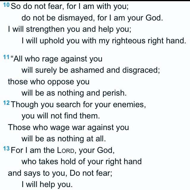 Isaiah 41:10-13 Amen