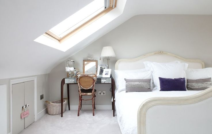 loft bedroom with Velux window