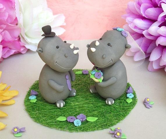 Rhinos Cake Topper