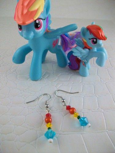 Rainbow Dash Cosplay Earrings My Little Pony Friendship is Magic  | SGalindoDesign - Jewelry on ArtFire