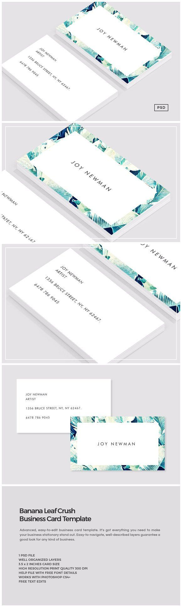 192 best business cards images on pinterest business cards banana leaf crush business card reheart Gallery