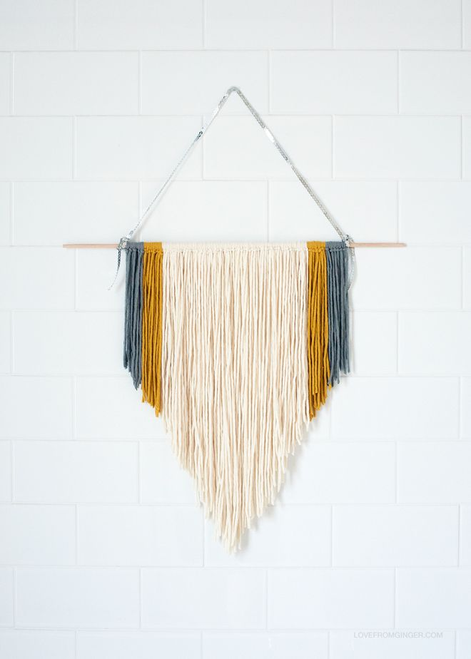 DIY Easy Macrame Wall Hanging via Love From Ginger   lovefromginger.com
