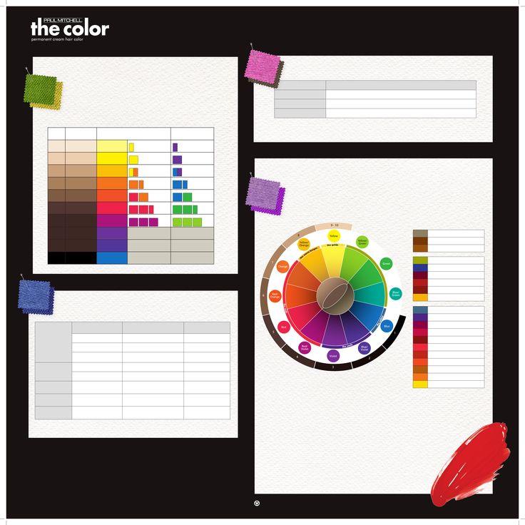 Paul Mitchell The Color Xg Color Chart Color Charts Pinterest Paul