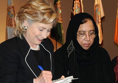 Huma Abedin's Mother Linked to Muslim Brotherhood.  Huma is in the White House and is Hillary's right hand. her mother wants Sharia Law installed in the US.  you MUST READ THIS? Click to read entire story.