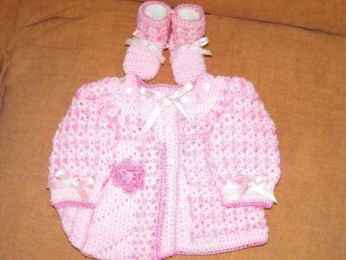 Chambritas tejidas a gancho para bebé - Imagui