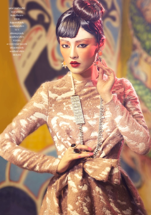 Eastern Opulence | Rawiwan Bunprachom | Apichart Chaichulla #photography | L'Officiel Thailand November 2012