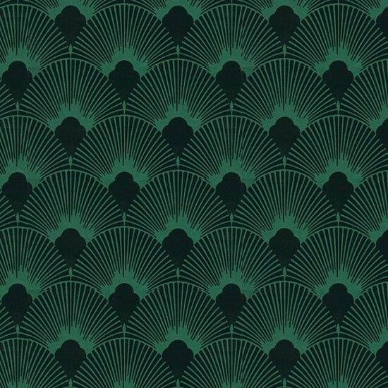 Wallpaper Nails two art deco traits, jewel tones and fan pattern.  I love it!