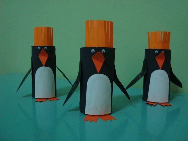 Οι πιγκουίνοι # Penguin paper roll craft