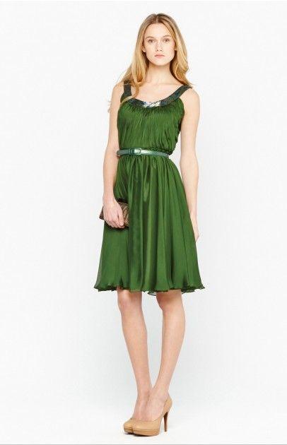 Vestido griego seda - vestidos | Adolfo Dominguez shop online