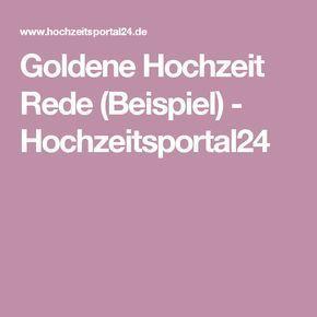 Goldene Hochzeit Rede (Beispiel) - Hochzeitsportal24