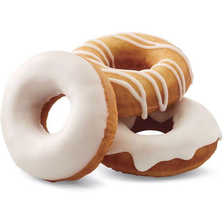 Donuts al horno con glaseado de vainilla