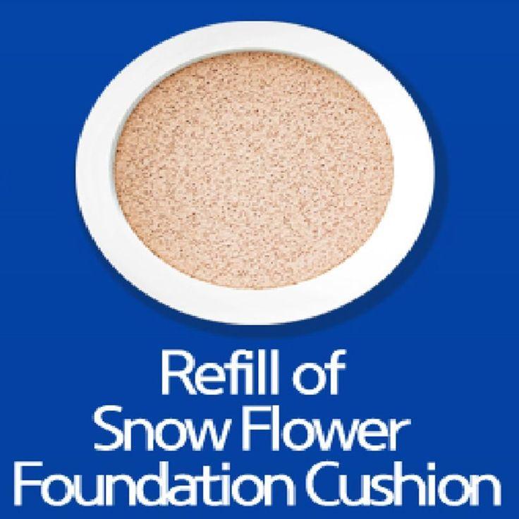 W.Lab Snow Flower Foundation For Flawless Skin-2 color W-SNOW CC CUSHION REFILL #WLAB