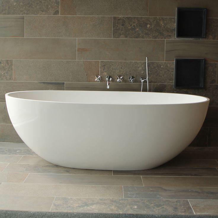 25 beste idee n over vrijstaand bad op pinterest badkamer kuipen en vrijstaande badkuip - Badkamer design italiaans ...