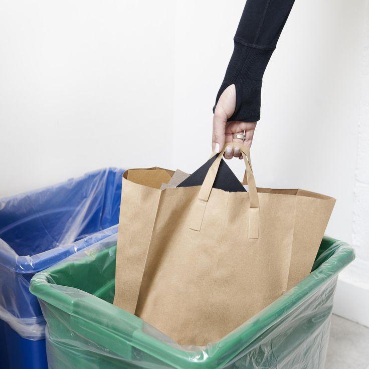 Modern Recycling Bin Set in Quartz on AHAlife
