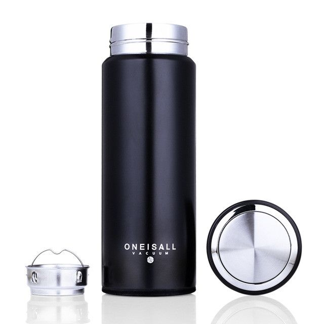 450ML Thermos Cup 304 Stainless Steel Insulated Mug With Tea Infuser Thermo Mug Garrafa Termica Coffee Thermo Mugs Male Gift