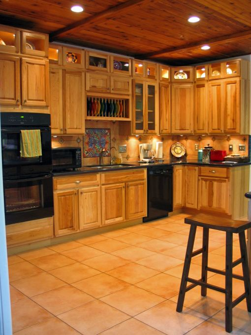 Santa Fe Kitchen. Next Years Home Project!! My Black Appliances & Display Cabinets For My Fiestaware!!