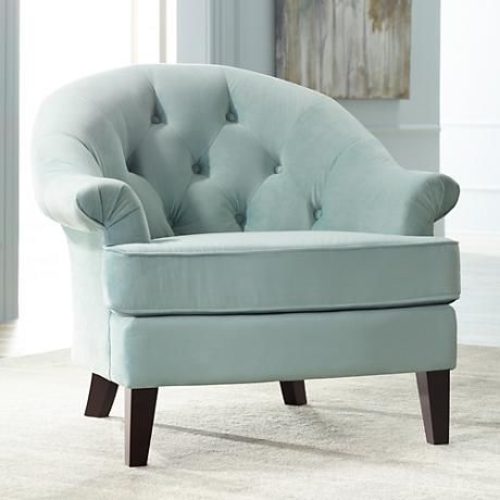 This Elegant Tufted Back Armchair From The Kash Collection