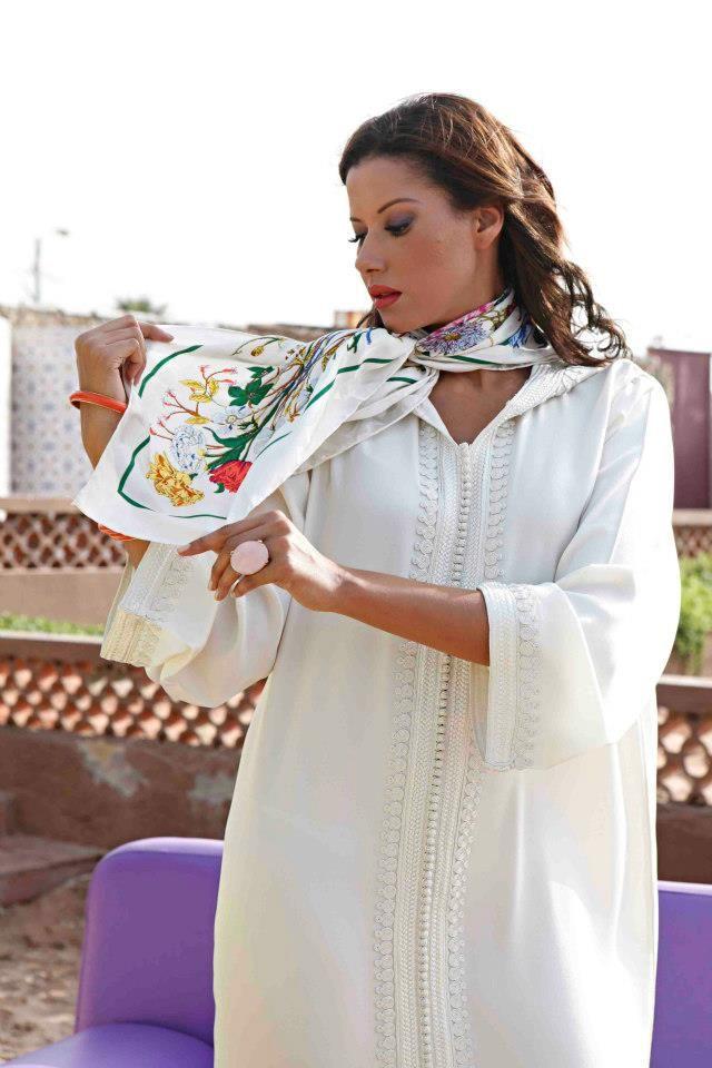 Djellaba Blanche de Mariée - Confection & style de Luxe « Location et Vente de Caftan