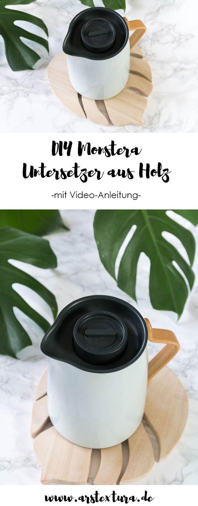 DIY Monstera Untersetzer Aus Holz Basteln   Ein Schönes DIY Geschenk Für  Urban Jungle Fans