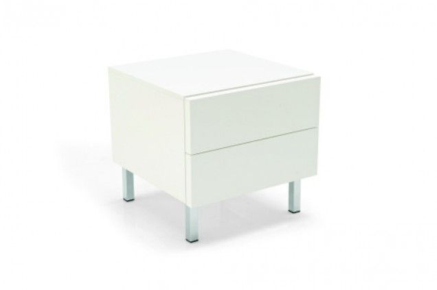 Seattle two drawer nightstand is the perfect size for just about anywhere. Constructed of a lacquered white glossy frame, metal base and sturdy wenge, walnut veneer or glossy white drawers, this nightstand will be the perfect storage unit for you. Emphasize grace and practicality in your home with the Seattle two drawer nightstand.  Dimensions  19 3/4 inches width  20 3/8 inches depth