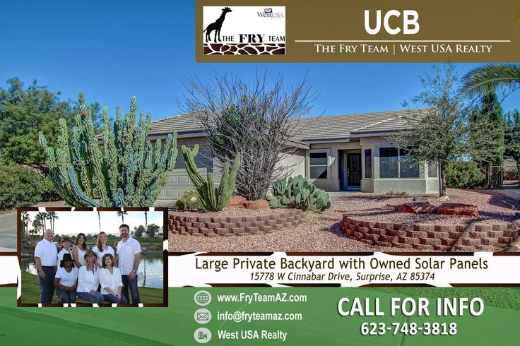 "We went under contract on this ""Large Private Backyard with Owned Solar Panels""  