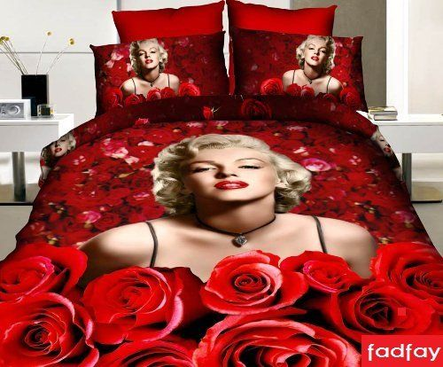 FADFAY Home Textile,Marilyn Monroe Comforter Set Queen Size,Sexy Roses Marilyn Monroe Bedding Sets,Marilyn Monroe Bedroom Sets FADFAY http://www.amazon.com/dp/B00JDEHRMI/ref=cm_sw_r_pi_dp_z5enub1MX5ASN