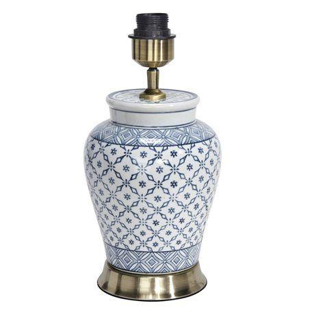 Pr Home Mi Hong Porslin Grå 34Cm Lampfot