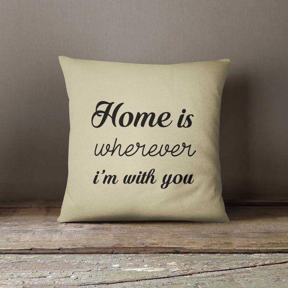 Decorative pillow, Pillow cover 16x16, Home, Love,  Home decor, Throw pillow, Pillow cover, Anniversary Gift, Bedding, Sofa cushion