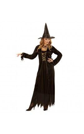 Disfraz de bruja mágica para mujer talla grande