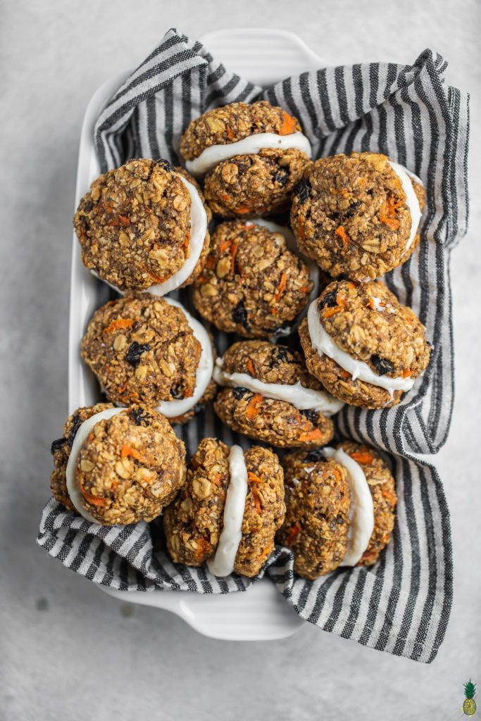 Carrot Cake Cookie Sandwiches Vegan Oil Free Recipe Carrot Cake Sandwich Cookies Carrot Cake Cookies Recipes