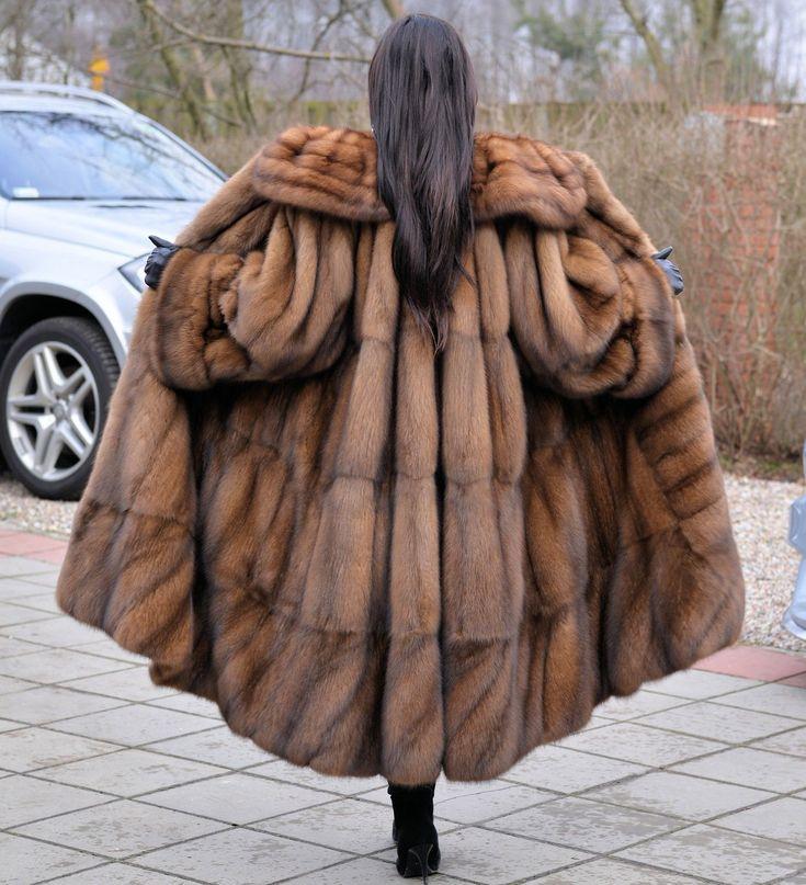 NEW RUSSIAN SABLE FUR LONG SWINGER COAT CLASS OF JACKET MINK FOX LYNX CHINCHILLA   eBay
