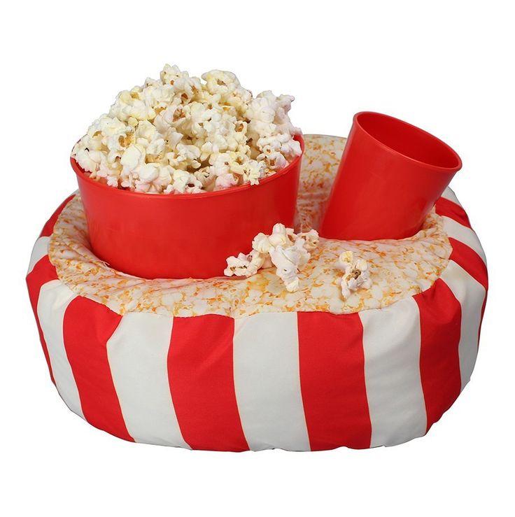 ALMOFADA PORTA PIPOCA - Mais conforto na hora de curtir seus filmes, séries, novelas e jogos. Almofada super macia que vem acompanhada com um balde para pipoca ou petiscos e um copo.