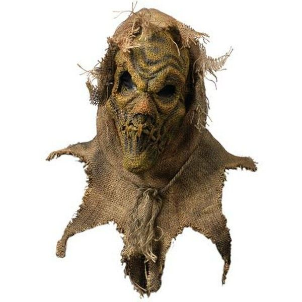 adult scarecrow mask liked on polyvore featuring costumes scary adult halloween costumes scarecrow - Halloween Scare Crow