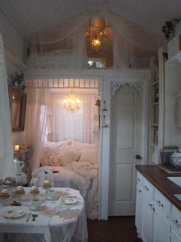 64 best shabby chic tiny homes images on pinterest for Fairytale inspired home decor