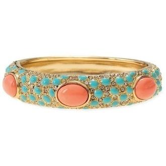Mint & Coral Wedding Inspiration::bracelet