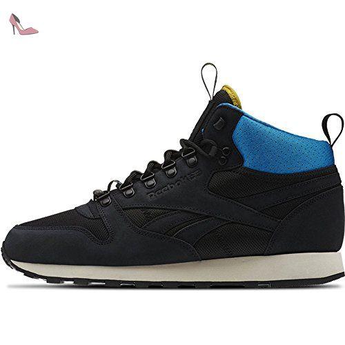 Reebok - Classic Leather Mid BC - AQ9665 - Couleur: Blanc-Bleu-Noir - Pointure: 40.5 - Chaussures reebok (*Partner-Link)
