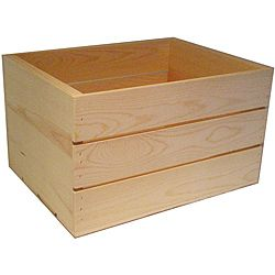Heavy-duty 16-inch Unfinished Pine Crate - Overstock™ Shopping - Great Deals on Other Storage