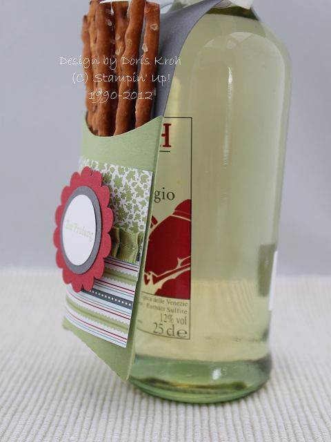 Flaschenanhänger mit der Pillowbox