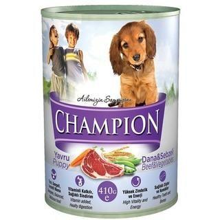 Champion Yavru Köpek Maması Dana ve Sebzeli Konserve
